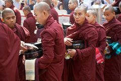 Monks at the Mahagandayon Monastery in Amarapura Myanmar Stock Photography