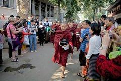 Monks at the Mahagandayon Monastery in Amarapura Myanmar Royalty Free Stock Photography