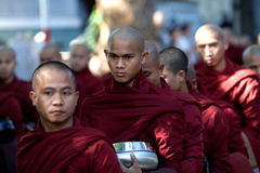 Monks in the Mahagandayon Monastery, Myanmar Stock Photos