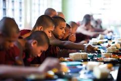 Monks in the Mahagandayon Monastery, Myanmar Stock Photography