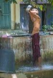 Monks at the Mahagandayon Monastery Myanmar. AMARAPURA , MYANMAR - SEP 03 : Monk at the Mahagandayon Monastery in Amarapura Myanmaron September 03 2017 Royalty Free Stock Photography