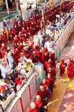 Monks in Mahagandayone monastery Stock Photos