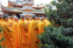 Monks meeting Stock Photo