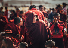 Monks and Nuns at Dalai Lama 14th Sermon Stock Photography