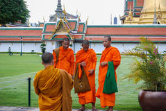 Monks Outside King's Palace Royalty Free Stock Image