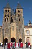 Monks in Paray-Le-Monial Stock Image