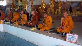 Monks in Phuket Thailand Stock Images