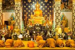 Monks Praying In Church Stock Photos