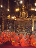 Monks praying in Makabucha Day Royalty Free Stock Photography