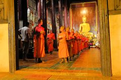 Monks are preparing for Yee Peng Festival of Royalty Free Stock Photos