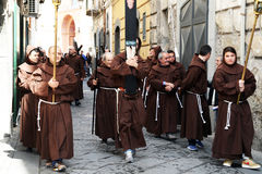 Monks procession Royalty Free Stock Photo