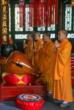 Monks reciting scriptures in daci temple,chengdu,china Stock Photo