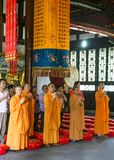 Monks reciting scriptures in daci temple,chengdu,china Royalty Free Stock Images