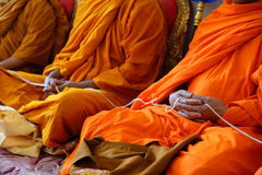 Monks of the religious rituals. Buddhist ceremony stock photography