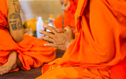 Monks of the religious rituals. Buddhist ceremony royalty free stock photography