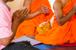 Monks of the religious rituals,. Buddhist ceremony royalty free stock image