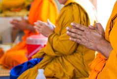 Monks of the religious rituals. Buddhist ceremony Royalty Free Stock Photos