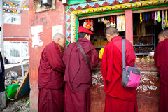 Monks in the Sertar buddhish college Stock Images