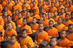 Monks Sitting Stock Photo