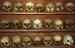 Monks skulls at Meteora monastery,Greece Stock Photography