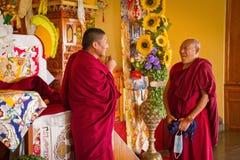 Monks smiling, Gyuto monastery, Dharamshala, India Royalty Free Stock Photo