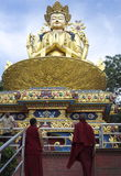 Monks at Swayambhunath Temple Stock Image