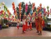 Monks & Temple festival Stock Photo