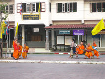 Monks in Thailand Royalty Free Stock Image