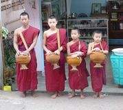Monks in Thailand Royalty Free Stock Photo