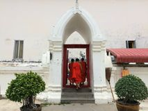 Monks in thailand royalty free stock images
