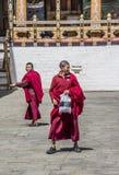 Monks in Thimpu dzong Stock Photo