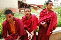 Monks in Tibet Stock Images