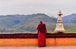 monks tibet Royaltyfri Fotografi