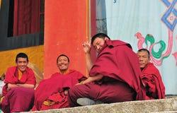 Monks in Tibet Stock Image