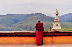 Monks in Tibet Royalty Free Stock Photography