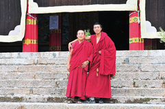 Monks in Tibet Royalty Free Stock Images