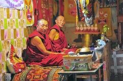 Monks in Tibet Stock Photos