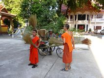 Monks in Vientiane  / Laos Royalty Free Stock Image