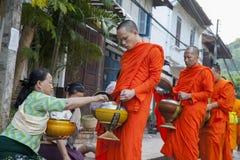 Monks walk Stock Photo