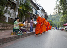 Monks walk Royalty Free Stock Images