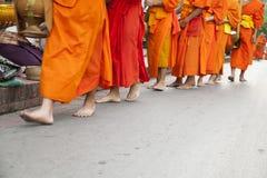 Monks walk Royalty Free Stock Photo