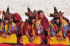 Monks are worshiping Vulcan Stock Image