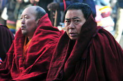 Monks are worshiping Vulcan Royalty Free Stock Photography
