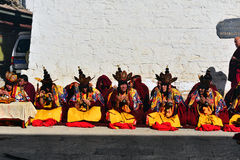 Monks are worshiping Vulcan Royalty Free Stock Image