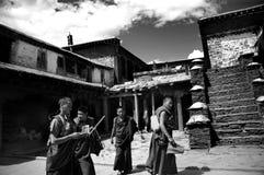 monkstempel tibet Royaltyfri Bild