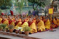 Monlam em Bodgaya, India de Kagyu foto de stock