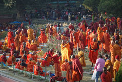 Monlam en Bodgaya, la India de Kagyu Fotos de archivo libres de regalías