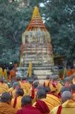 Monlam en Bodgaya, la India de Kagyu Foto de archivo libre de regalías