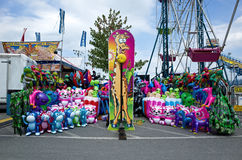 Monldy Maze. Elizabethtown, PA, USA-August 18, 2014: Carnivals and country fairs are in full swing. They are common in late summer and early fall and include stock photo