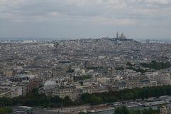 Monmantr from the Eifel tower Royalty Free Stock Photos